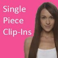 100% Human Hair Single Piece Clip-In Extensions - Silky Straight